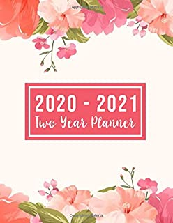 2020-2021 Two Year Planner: 2020-2021 see it bigger planner | Pink Flowers Design 24-Month Planner & Calendar. Size: 8.5