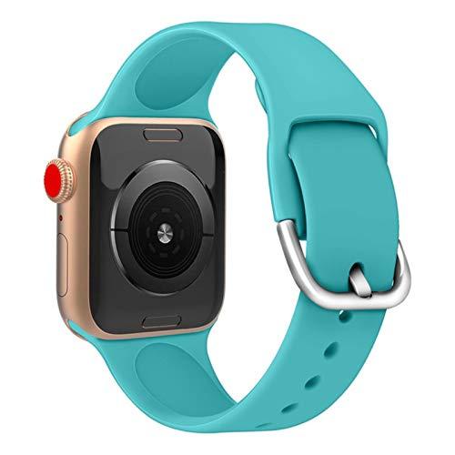 Correa de silicona para Apple Watch Band 38mm 42mm para iWatch 5 4 44mm 40mm suave deporte reloj pulsera pulsera correa para iwatch 1 2 3 4 5