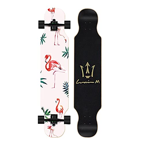 Cinta de agarre de la patineta Patinetas, patinetas de baile de 107 * 22 cm, tablero de skate Cruiser de arce, incluyendo ruedas de PU, patrón de colores, rodamiento, camión Para patinetas, paneles, s