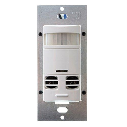 1- Osram Sylvania ssm-lnv Elogic Sensor de ocupación y interruptor de pared dual Tech, 180DEG vista, WALLBOX pantalla plana, 120277VAC, 45373–0no neutral