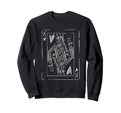 Playing Card King Design Sweatshirt