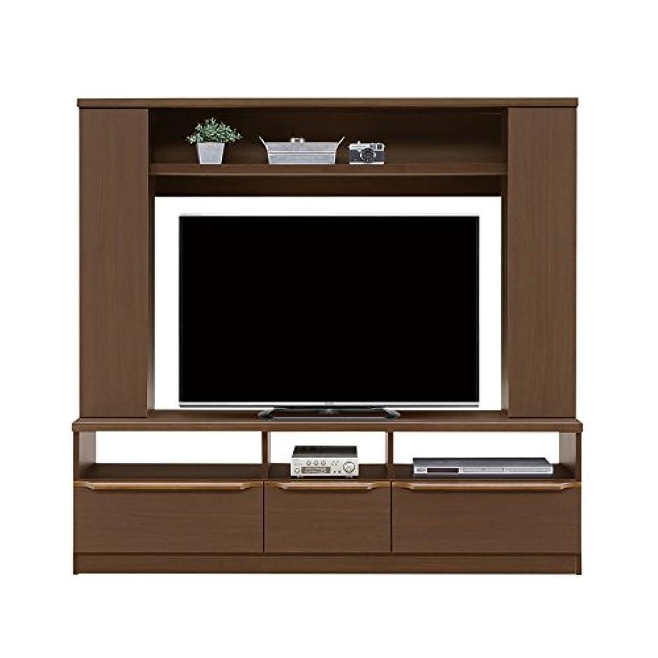 犠牲来てリーテレビ台 テレビボード ハイタイプ 木製 北欧モダン 約幅160cm ブラウン 収納付き 国産品 日本製