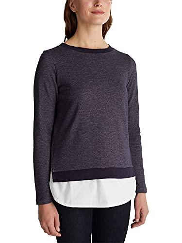ESPRIT Damen 090EE1J315 Sweatshirt, 400/NAVY, XS