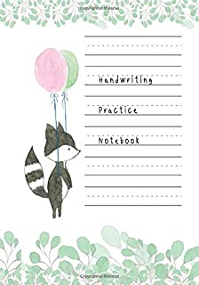 Handwriting Practice Notebook: Journal Composition Notebook with Blank Lined Writing Letters & Words Sheet for Preschool o...