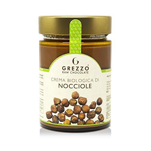 Crema Biologica di NOCCIOLE senza zucchero, 100% nocciole bio tostate a bassa temperatura, burro di nocciole garantito da Grezzo Raw Chocolate (300g)