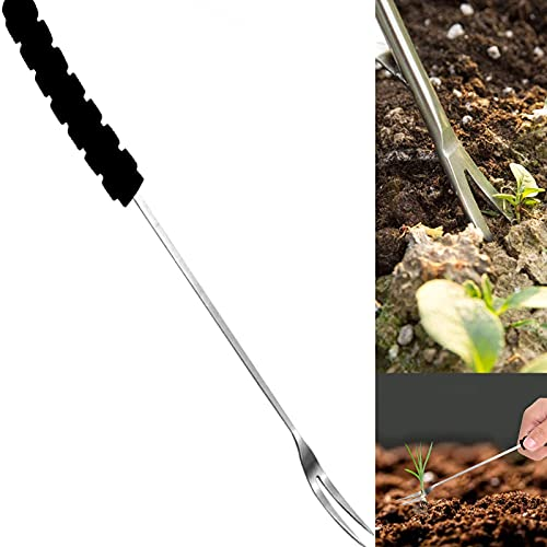 SHILONG Grandpa's Weeder - Weed Puller Tool - 1/2PCS Hand Weeder Tools Garden Weeding Tools with Ergonomic Handle Weed Trimmer Garden Lawn Farmland Transplant Gardening Bonsai Tools (1PC)