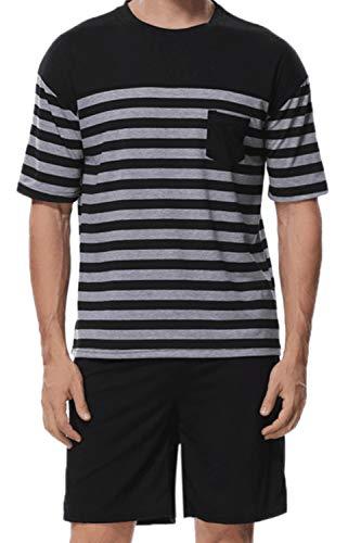 Conjunto De Pijamas para Hombre Ropa De Dormir Casual Conjunto De Pantalones Cortos De Dos Piezas