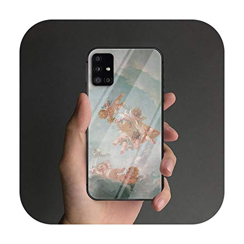 Little Angel - Carcasa de cristal templado para Samsung Galaxy S Note 5 6 9 10 10E 20 21 FE Plus Uitra Prime Fashion Soft-8-Galaxy Note 20 Ultra