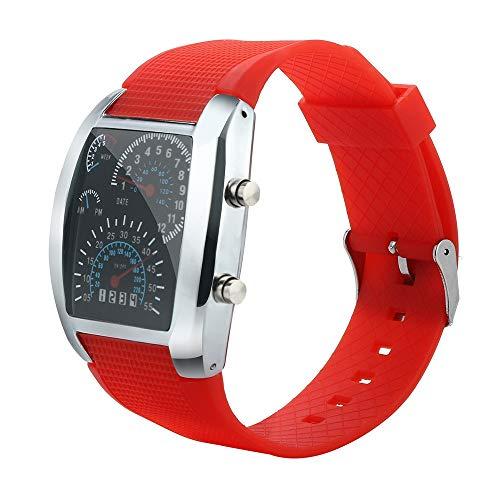 Obestseller Armbanduhren für Herren Herrenmode LED-Licht Flash Turbo Tachometer Sportwagen Zifferblatt Meter Uhr Weltraumuhr