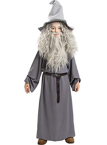 Funidelia | Disfraz de Gandalf - El Seor de los Anillos Oficial para nio Talla 7-9 aos El Seor de los Anillos, Pelculas & Series, El Hobbit, Magos - Multicolor