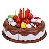 Fai finta di giocare con cibo per bambini, alta simulazione, taglio e decorazione, festa di compleanno, giocattoli da torta, tagliuzzini da cucina, set da gioco per bambini di età compresa(caffè)