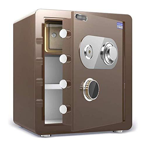 WangJUNXIU kluis, mechanisch wachtwoord-safe, klein, vuurbestendig, waterdicht, anti-diefstal, onzichtbare safe, alle stalen box, mechanische blokkering, geldbewaarbak, Strongbox wandkluis koffie goud