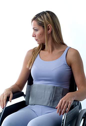 Obbocare - Cinturón Abdominal Para Sujeción De Tronco En Silla De Ruedas. Cinturón De Sujeción Con Cierre Con Hebillas. Diseño Ergonómico. Talla L