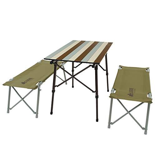 ロゴス(LOGOS) LOGOS Life オートレッグベンチテーブルセット4(ヴィンテージ) 73188002