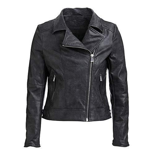 Fritzi aus Preussen Damen Biker Jacke Virginia schwarz, Größe:M