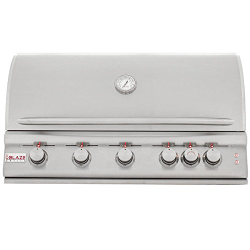 Blaze LTE 40-Inch 5-Burner Built-In Natural Gas Grill With Rear Infrared Burner & Grill Lights - BLZ-5LTE-NG