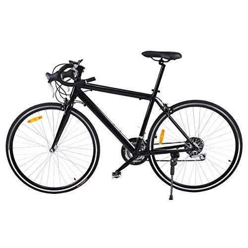 MuGuang 26' Aluminium Road Bike Racing Bike Fahrrad 21 Speed Bike 700cc (schwarz)