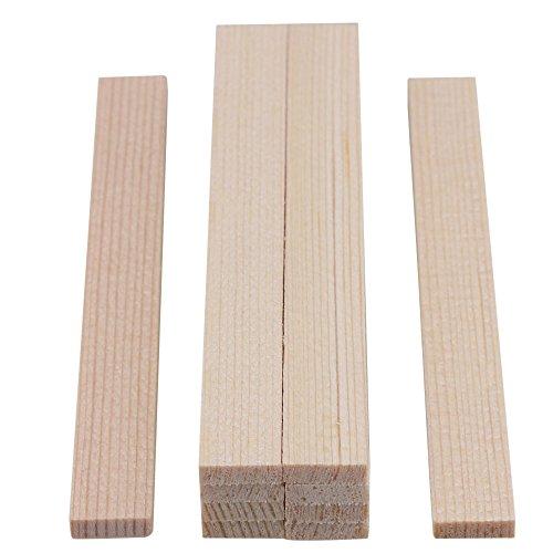 Yibuy - 10 Tiras cuadradas de Madera de bambú para modelar, 100 mm de Longitud