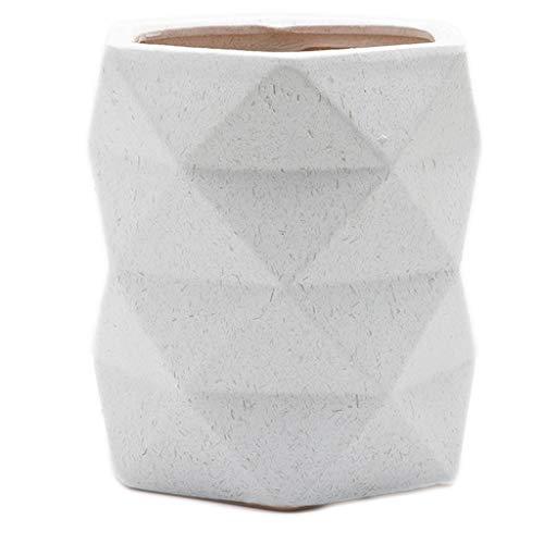 LHY-Blumentopf mit Blumenmotiv, 24 × 20/28 × 27 cm, Keramik, Origami, Balcone, Wohnzimmer, Büro, Klavier, Monster, Grün 27*28cm weiß