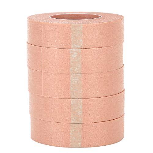 5pcs ruban d'extension de cils, bandes de cils en tissu adhésif, ruban de cils de greffe de tissu non tissé, ruban de tissu pour l'approvisionnement en extension de cils(1.25cm)