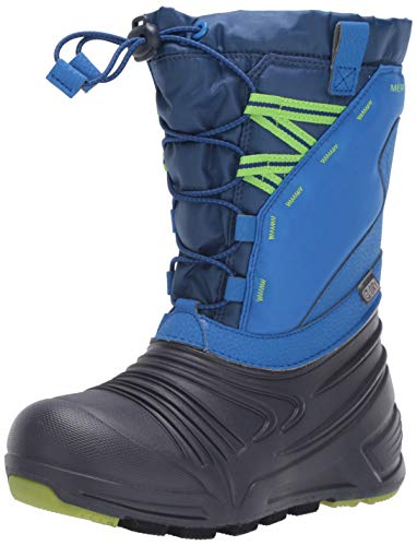 Merrell Kids' Unisex M-Snow Quest Lite 2.0 Wtrpf Snow Boot, Blue, 11.0 M US Little Kid