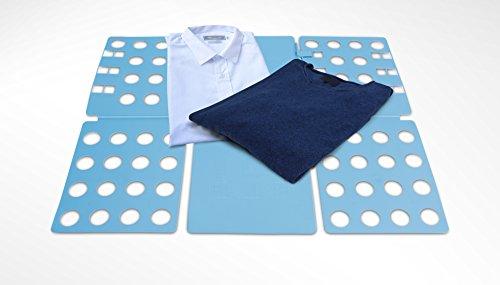 Faltbrett für Hemden & T Shirts | Wäschefaltbrett als Falthilfe | Wäschefalter | Idealer Kleiderschrank Organizer & Herrendiener Alternative