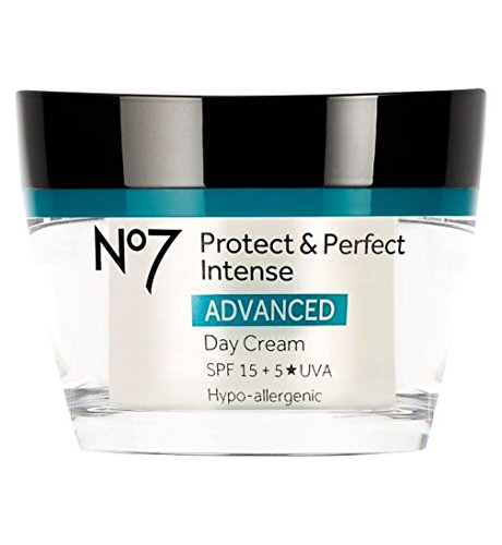 Boots No7 Protect & Perfect Intense ADVANCED Day Cream 50ml With 15 SPF FOR VISIBLY YOUNGER LOOKING SKIN by Protect and perfect