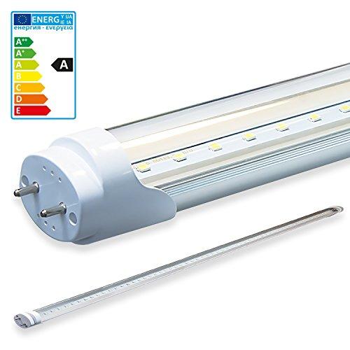 LEDVero 1x SMD Tubo/tubo LED fluorescente T8 G13 -Cover trasparente 180 cm, 32 W, 3200lumen- pronto per l'installazione, Colore Luce:neutro