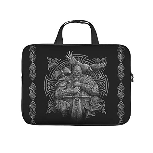 Viking Odin Laptop Messenger Bags Laptop Bags Gifts for Men Women White 15inch