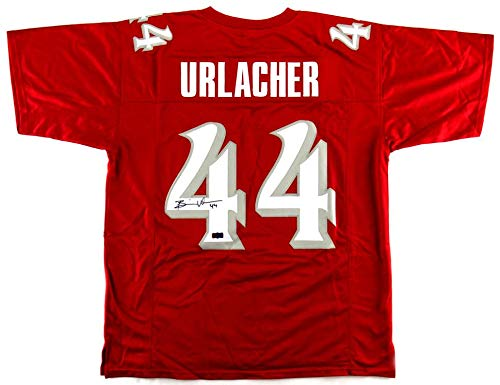 Brian Urlacher Signed New Mexico Custom Red Jersey - Autographed College Jerseys
