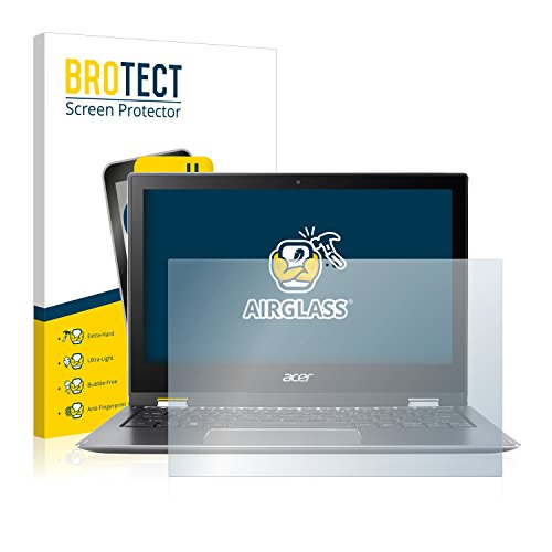 BROTECT Panzerglas Schutzfolie kompatibel mit Acer Spin 1 SP111-32N - AirGlass, 9H Festigkeit, Anti-Fingerprint, HD-Clear