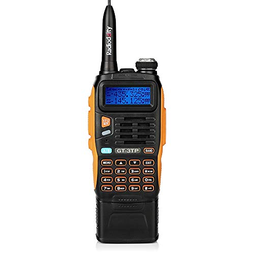 BaoFeng GT-3TP Mark-III Tri-Power 8/4/1W Two-Way Radio Transceiver with 7.4V 3800mAh Battery, Dual Band 136-174/400-520 MHz True High Power, Upgraded Chip, High Gain Antenna, Car Charger