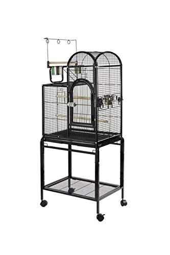 Pet's Solution Gabbia Uccelli pappagalli con Carrello trespolo Belvedere