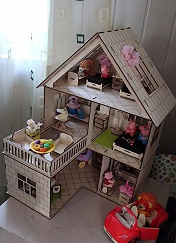 Casinha Bonecas Mdf + Móveis Lol Surprise Brinquedo Meninas