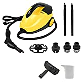 Automobile Steam Cleaner Car Steam Cleaner Machine,Handheld Multi Purpose Upholstery Carpet Cleaning Most Floors,Counters,Appliances,Windows 60 Minutes Steam Cleaning (Yellow)
