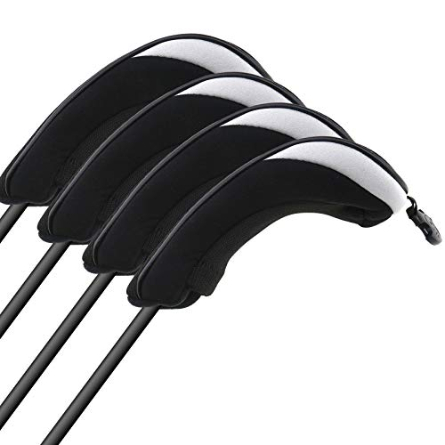 4-tlg. Hybrid-Abdeckung Schlägerhaube Schlägerkopfhüllen Mesh Golf Headcovers Kopfschutz Putterkopf Hüllen