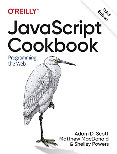 JavaScript Cookbook: Programming the Web, 3rd Edition Front Cover