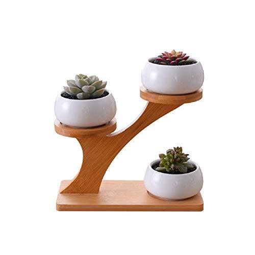LLYU Cache-pot créatif bureau d'accueil fleur présentoir décoration (Size : 3 Tiers With Stand)