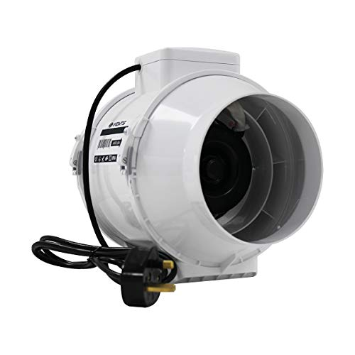 VENTS UK 150 mm 6 inch Powerful Intake Grow Room Tent Circulation Extractor Fan for Indoor Growing Grow Room Filter Ducting
