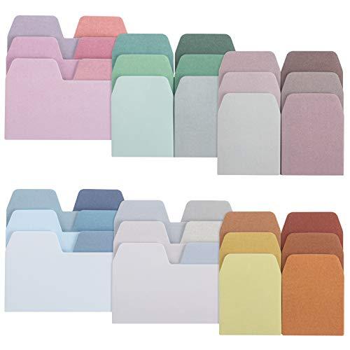 MOPOIN Sticky Notes Pastell, 600 Stücke Haftnotizen Lustig Farbige Index Tabs Notizblöcke à 60 Blatt in 6 Farben Recycling Haftnotizen Selbstklebend Bunt für Studenten Büro