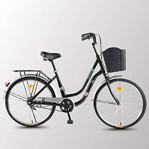 Bove Stoßdämpfer Citybike Single-Speed Fahrrad Damen Leicht Und Stabil Scheibenbremsen Fahrrad Pendeln Vintage Unisex Fahrrad-F-26inch