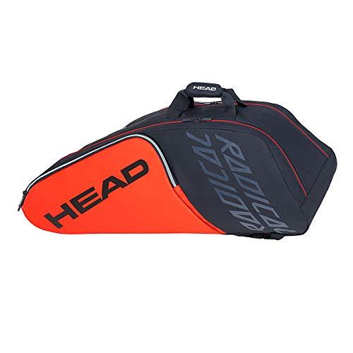 Head Radical 9R Supercombi - Borsa per racchette da racchetta, 68 x 40 x 20 cm, colore: Nero