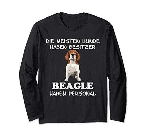 Beagle Hund Hunderasse Geschenk Damen Herren Personal Langarmshirt