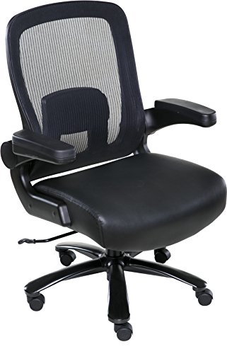 OneSpace Taft Mesh Back Oversized Executive Chair with Pocket Coil Seat Cushioning, Black