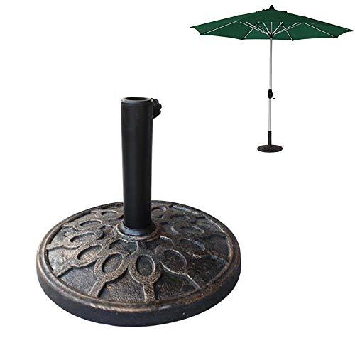 Gardening tools Pied de Parasol Rond en résine Lourde, Porte-Parapluie pour Porte-Parapluie en Acier de 37 mm de diamètre, Support de Base extérieur Robuste pour Balcon de terrasse de Jardin