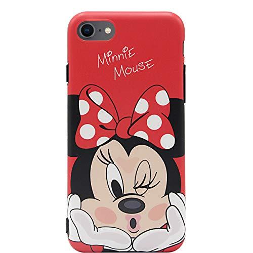MC Fashion iPhone SE 2020 Case, Cute Cartoon Matte Finish Case for Teens Girls Boys Women, Ultra Slim Soft TPU Case for Apple iPhone SE 2020, iPhone 7 and iPhone 8 4.7-inch (Kiss/Minnie Mouse)