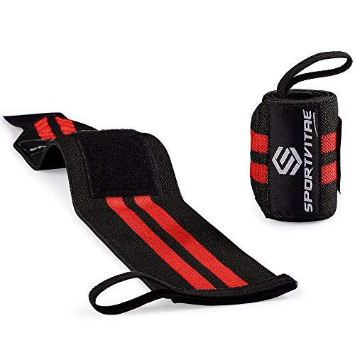Sportvitae® Muñequeras Crossfit, Gym, Deportivas, Musculación, Gimnasio, Calistenia, Gym Wrist Wraps - Hombre y Mujer - Un Par