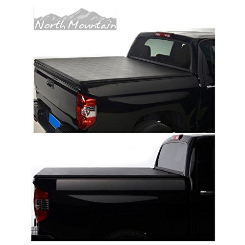 VioGi Black Vinyl Clamp On Soft Lock & Roll-up Top Mount Tonneau Cover Assembly w/Rails+Mounting Hardware Fit 04-14 Ford F150 06-08 Lincoln Mark LT Pickup 6.5ft Styleside Bed