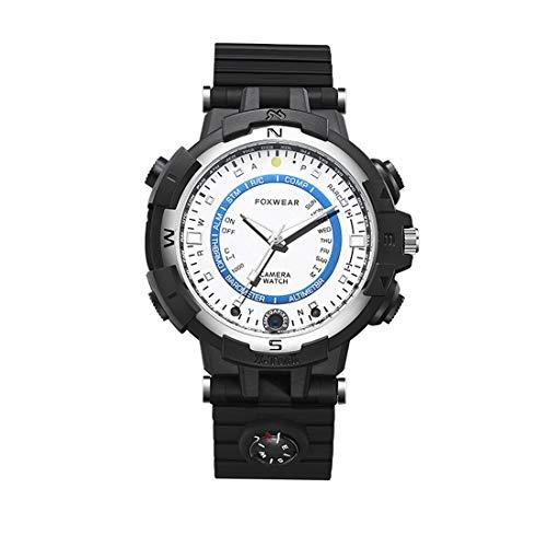 Tonwin Merk Smart Watch waterdicht Foxwear FOX8 8 8 GB capaciteit dagelijkse wifi-camera met kompas, ondersteuning afstandsbediening, P2P-bediening, led-zaklamp, nachtzicht/voice-record Brand: T