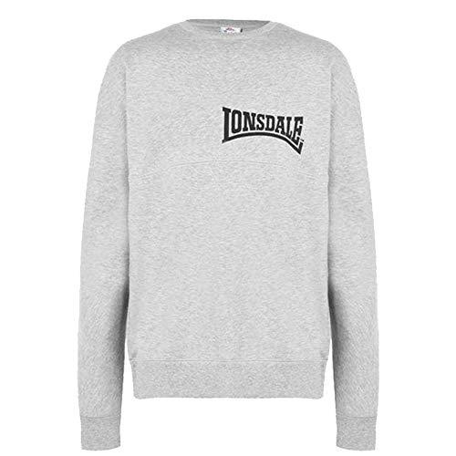 Lonsdale - Sudadera de manga larga para hombre Gris gris XL